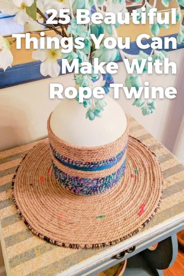 Love That Rustic Look But Don T Like The Cost Create Your Own Diy Home Decor On A Budget Budgetdecor Rope Twine