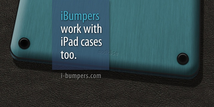 Protect the back of your iPad from scratches when you set it down - without bulky cases and sleeves. Apple factory look iBumpers for the iPad >> ipad back protectors, ipad back protection, protect back of ipads, ipad bumpers, ipad feet --> www.i-bumpers.com/index.html