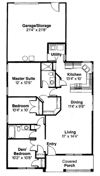 17 best images about house plans on pinterest small for Narrow lot one story house plans