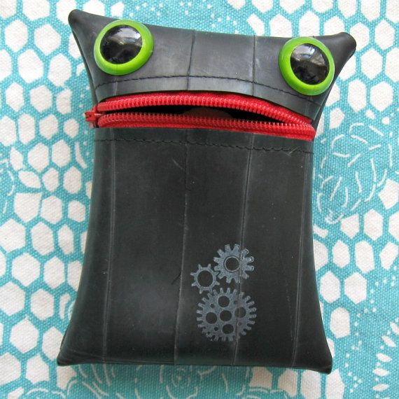 Gizmo the Recycled Tire Monster coin purse
