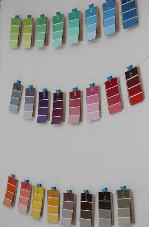 Calendrier de l'avent-Advent-Calendar-AdventsKalender-Countdown-Christmas-Noel-DIY-Pantone-Nuancier-Colours-Feesmaison.com