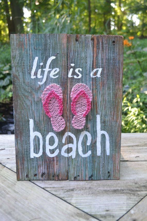 This Life is a Beach sign is a wonderful addition to your home/beach house or would make a great gift for a family member, friend,