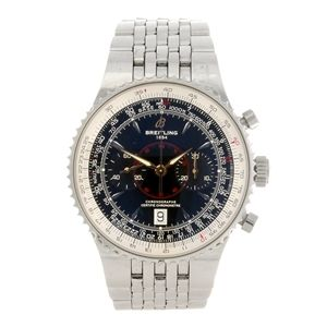 A stainless steel automatic gentleman's Breitling Montbrillant Legende bracelet watch.