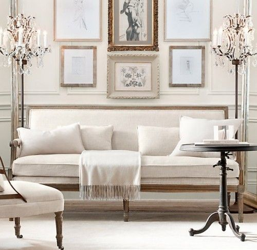 White SofaDecor, Restoration Hardware, Interiors, Livingroom, Living Room, Floors Lamps, Small Spaces, Sitting Room, Studios Couch