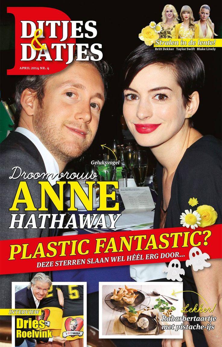 Cover Ditjes & Datjes 4, 2014 met Anne Hathaway. #DitjesDatjes