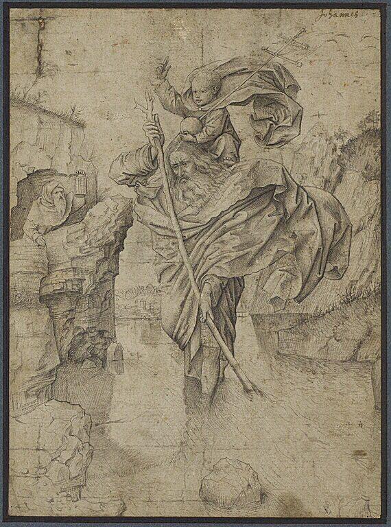 Святой Христофор с младенцем Иисусом