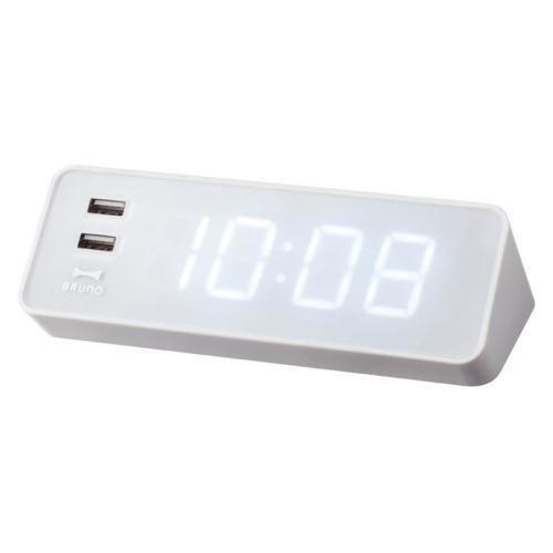 目覚まし時計 デジタル LEDクロック with USB