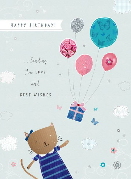 Happy Birthday - sending you LOVE and BEST WISHES - Christine Tappin - Ct-cat-birthday