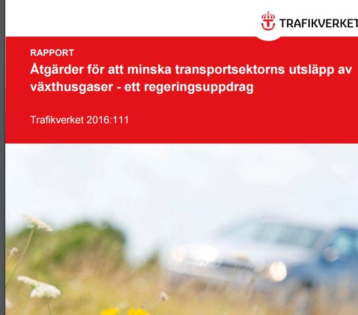 """#Trafikverket's rapport: """"Åtgärder för att minska transportsektorns utsläpp av #växthusgaser - ett regeringsuppdrag:  http://www.trafikverket.se/contentassets/35a7ce71b5fb4e83b1de8990aedbb2c0/rapport-2016-111-160630.pdf"""