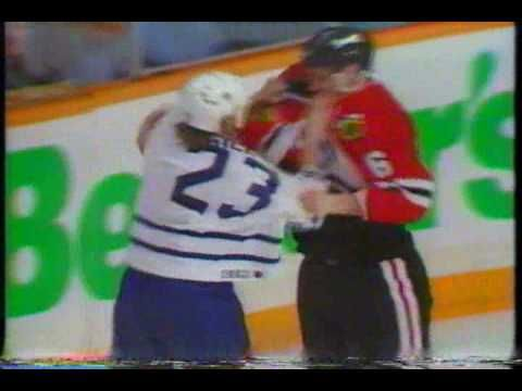 Leafs/Hawks playoff brawl, touched off by Eddie Belfour - 1994