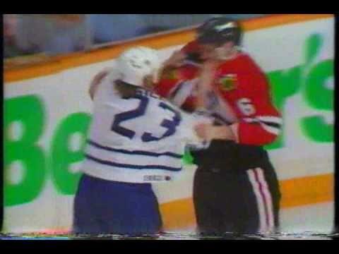Leafs/Hawks playoff brawl, touched off by Eddie Belfour - 1994