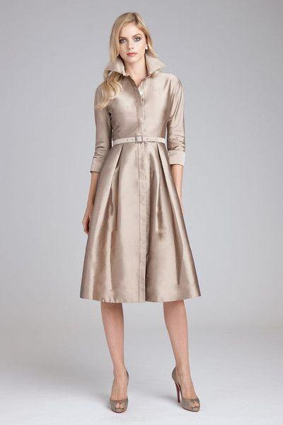 Modest Metallic Dress