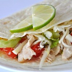 Limonen-Huhn in Tortilla Wraps