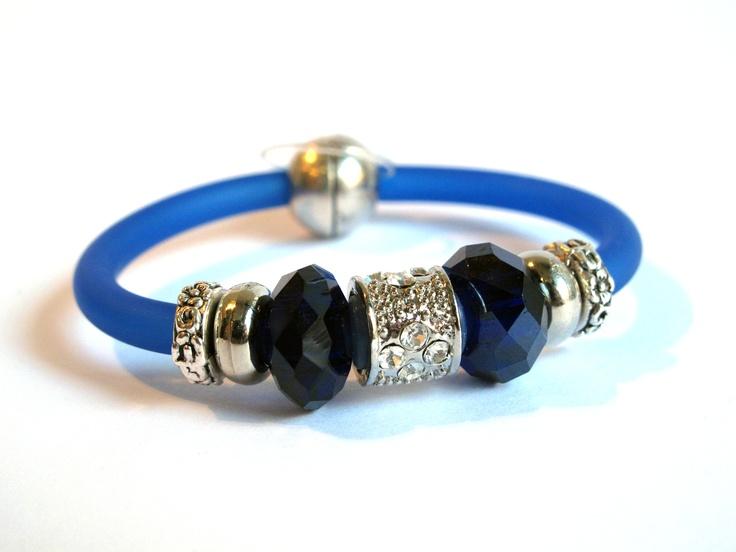 Pulsera azul cobalto