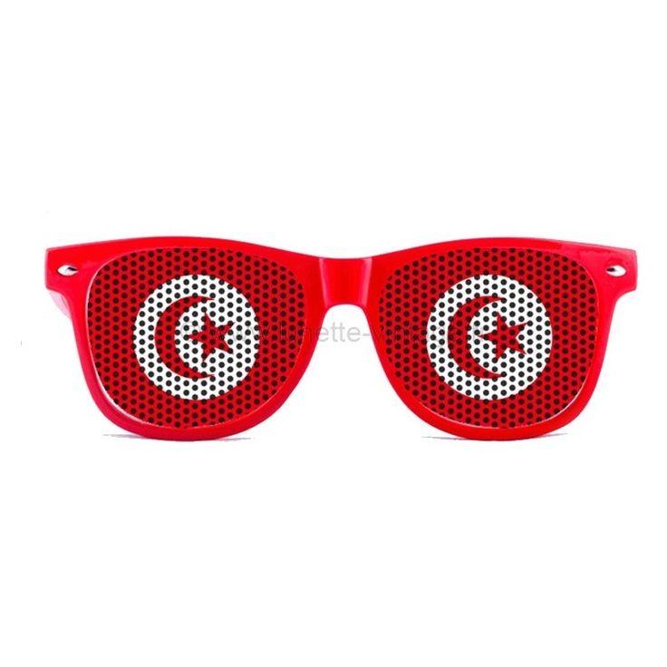 Compétez votre tenue de supporter de l'équipe national de tunisie grâce à cette paires de le lunettes de soleil! #flag #sunglasses #worldcup #coupedumonde #lunettes #tunisie #tunisia