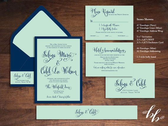 Sample: Mint Green and Navy Blue Wedding by BeautifullyBevilled