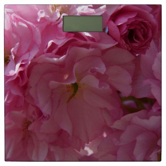 Spring Bathroom Scale by www.zazzle.com/htgraphicdesigner* #zazzle #gift #giftidea #spring #blossom #pink #scale #bathroom