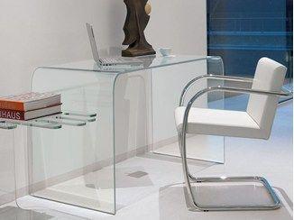 Bureau en verre design ACCADEMIA - ITALY DREAM DESIGN - Kallisté
