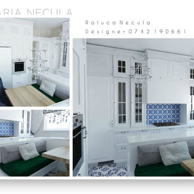 Bucataria cu stil, ceva realizabil ______________________________________________  #brasov #designinterior #classy #interior #design #play  #3D #positive #kitchen #bucatarie #colors #white #esmerald #classic #modern #furnituredesign NECULA RALUCA MARIA DESIGNER INTERIOR BRASOV RALU.NEC@GMAIL.COM