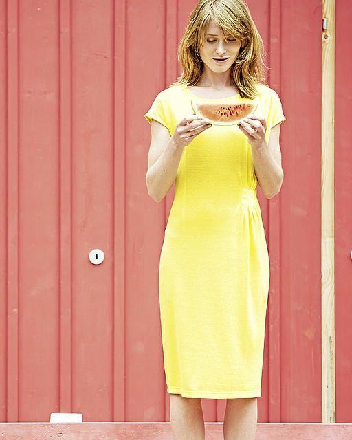 Dámské šaty z konopí a biobavlny JESSY - žlutá citrus - fair trade oblečení z biobavlny, bambusu, konopí, modalu, tencelu a merino, přírodní kosmetika, bambucké máslo, fairtrade bytové doplňky