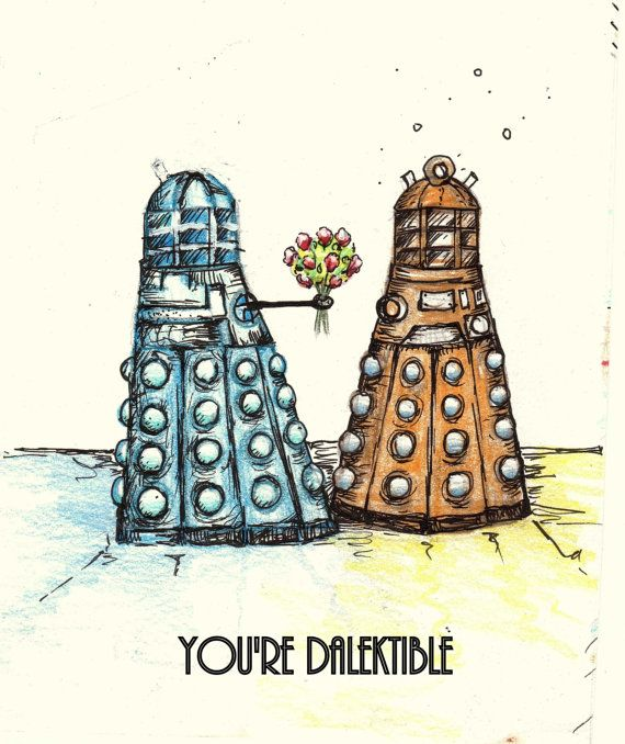 DOCTOR WHO Valentines Day CARDS Original works by GalleryWalkers