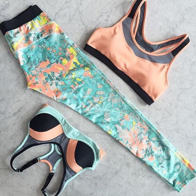 Mix it up | What do you think, the limitless leggings with our Salmon Racerback or Sports bra. Check out our sports fashion: ✖️www.jogha.com✖️
