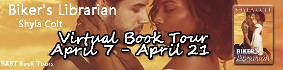 Review & Giveaway for Biker's Librarian by Shyla Colt   Biker's Librarian by Shyla Colt  Contemporary Romance  Date Published: Re-Releasing March 2nd  Publisher: Hot ink Press  Add to Goodreads  Recovered from an abusive relationship Juliette Moore is ready to live life on her own terms. Successful intelligent and slightly timid she makes a pact with her best friends to seize the day. She gets more than she bargained in the tall dark and dangerous biker Shooter. Drawn to her purity and charm…