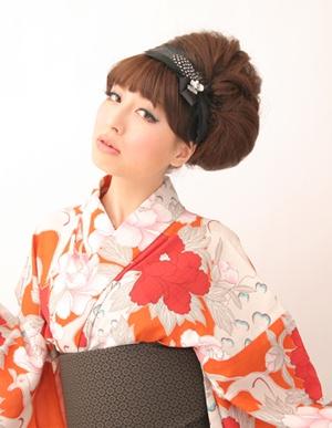 #Hair arrangement for #yukata 浴衣ヘアアレンジ