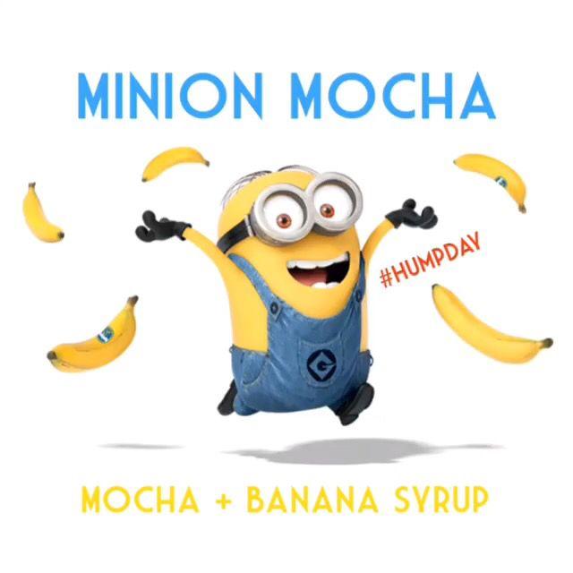 #HumpDay Special: #MINION #MOCHA!  #Minions #attpark #sfgiants #Caltrain #Samtrans #sf #sanfrancisco #nerdnation #stanford #uber #lyft #ucsf #ucsfmissionbay #academyofartsf #sfstate #astrosf #unitedbarbell #sfbike #humpdaycamel #geico #medallia #torani #barista