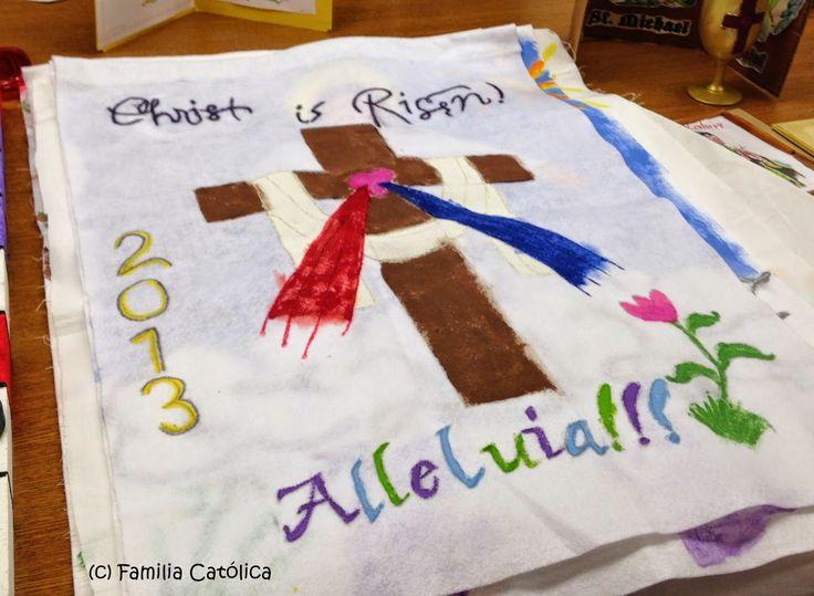 Familia Católica: Bandera de Pascua 2013 dedicada a la Divina Misericordia