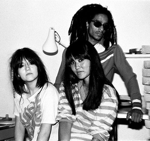 Jeannette Lee, Sheila Rock and Don Letts