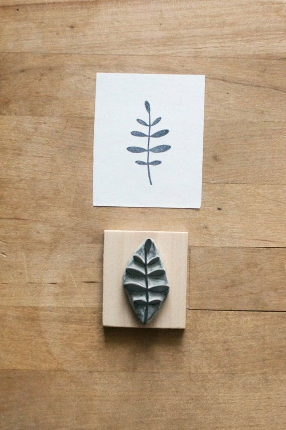 Little Leaves – Hand Carved Rubber Stamp