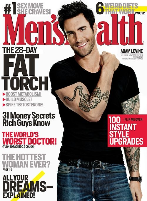 Adam Levine Covers 'Men's Health' – Talks Yoga & Workout Routine