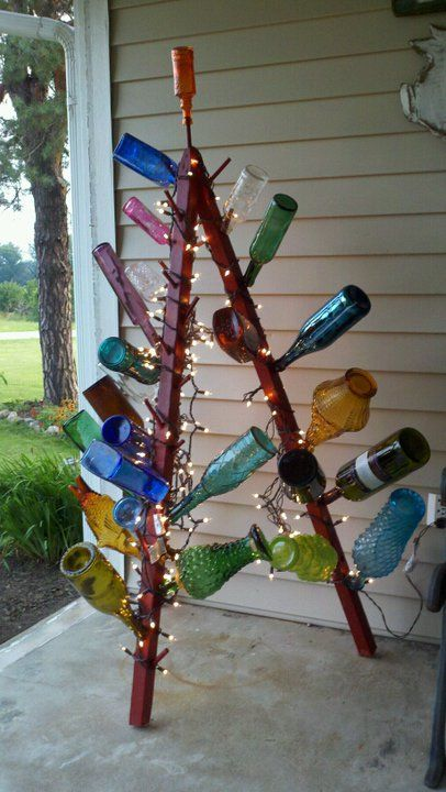 antique bottle tree