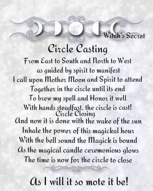 Real Spells From The Book Of Shadows Casting a circle | Ope...