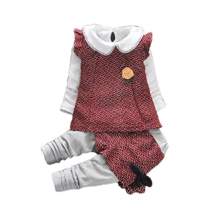 >> Click to Buy << retro causal baby girl coat shirt pants set European style 3pcs set  for 9M-3yrs babies newborn coat infantil clothes set hot #Affiliate