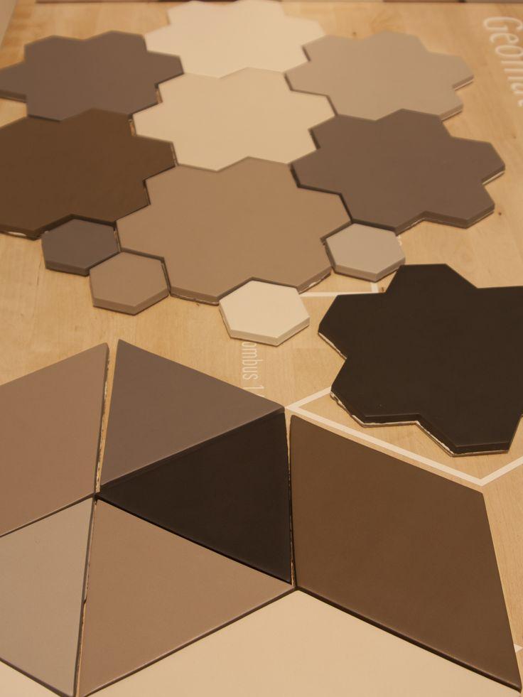 Tonalite collezione Geomat. 7 colori, 6 formati e 5 textures in formato 7,5x30. Cersaie 2016