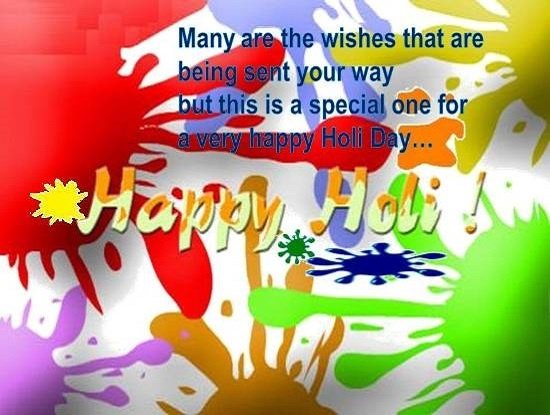 The Festival of colors Holi is just around the corner. Celebrate the Holi festival by sending Happy Holi Messages and Shayari this year to family & friends.