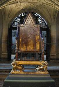 Tudors Coronation Chair at Westminster Abbey