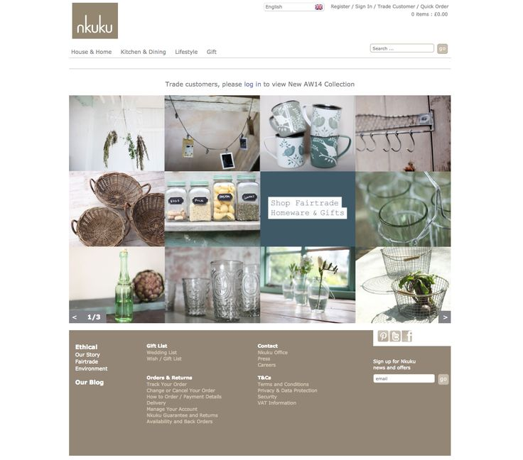 Nkuku homepage