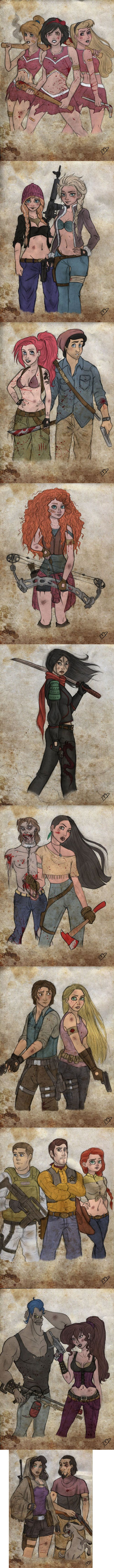 The Walking Disney- not a Walking Dead fan but this is cool