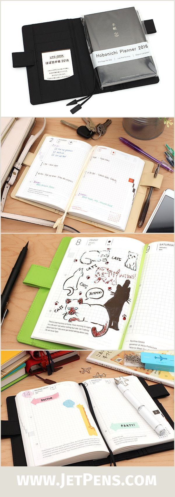 The 2016 Hobonichi Techo Planner is now available at JetPens for the first time ever! This thoughtfully designed pocket planner has a cult following in Japan, and is quickly gaining popularity around the world. We now have the highly anticipated English version of the Techo in stock, along with six colored cover options.