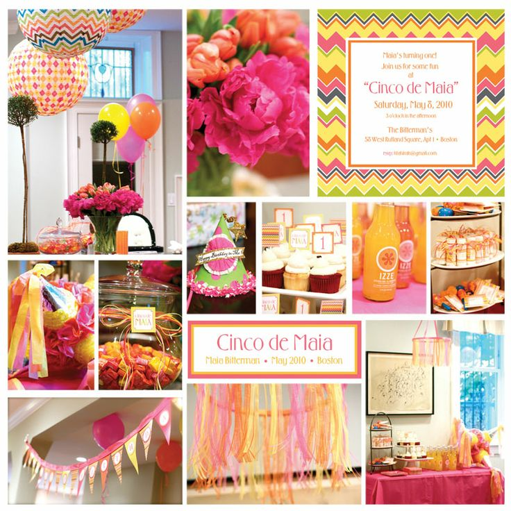 Cinco De Mayo 1st Birthday {Inspiration for Aliahna's first birthday}