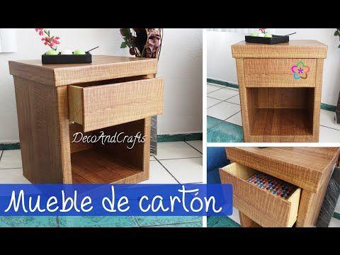 Hacer un Mueble de cartón con apariencia de madera DIY - DecoAndCrafts - YouTube