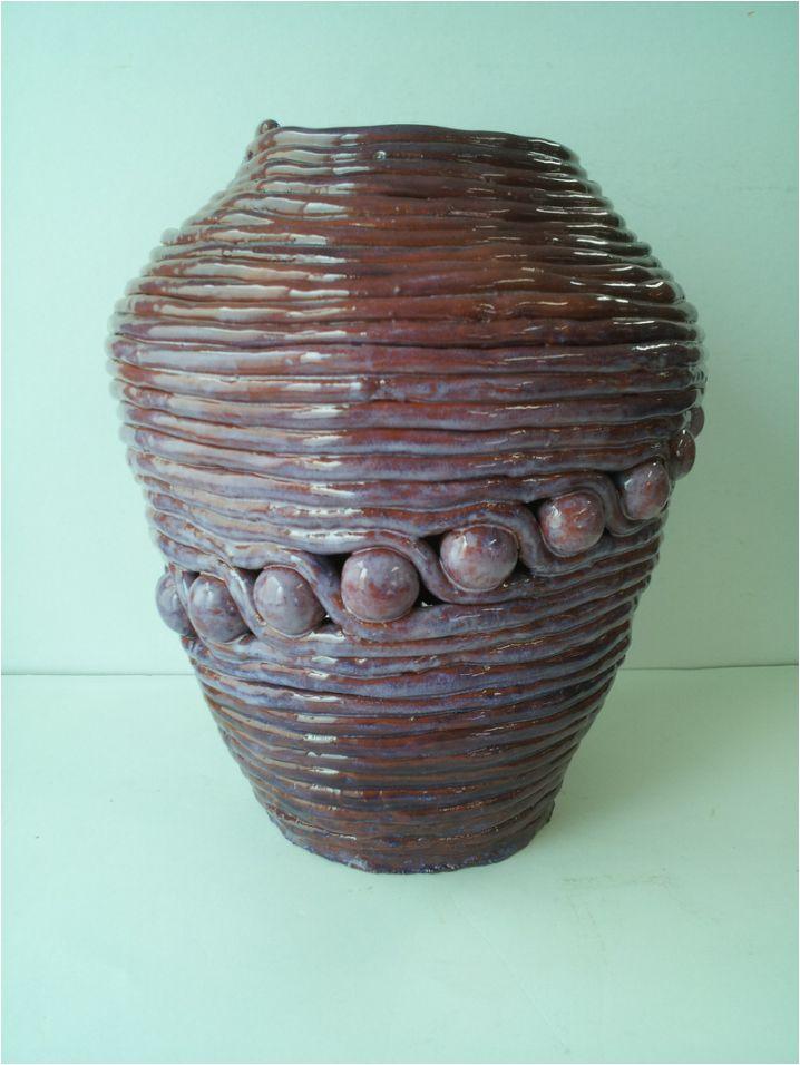 30cm Coil Pot--Ceramics I | Coil Building | Pinterest