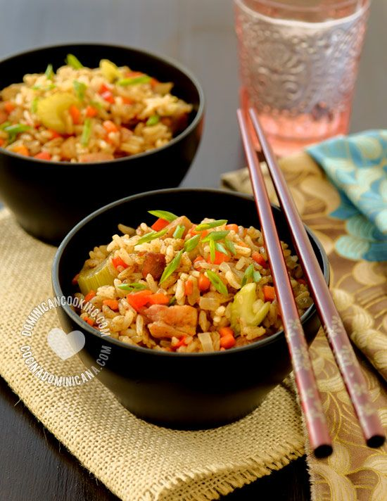 Chofan (Dominican Chow Fan) - Recipe & Video: the Dominican version of the Chinese dish, an example of the influence of the Chinese community on the Dominican cuisine.