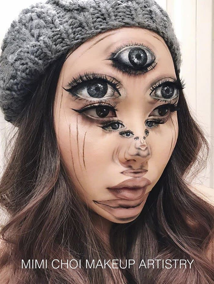 Woman Gives Up Teaching To Create Mind Blowing Optical Illusions With Makeup Makeup Optical Illusions Halloween Makeup