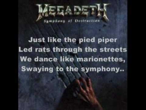 Symphony of Destruction - Megadeth Lyrics