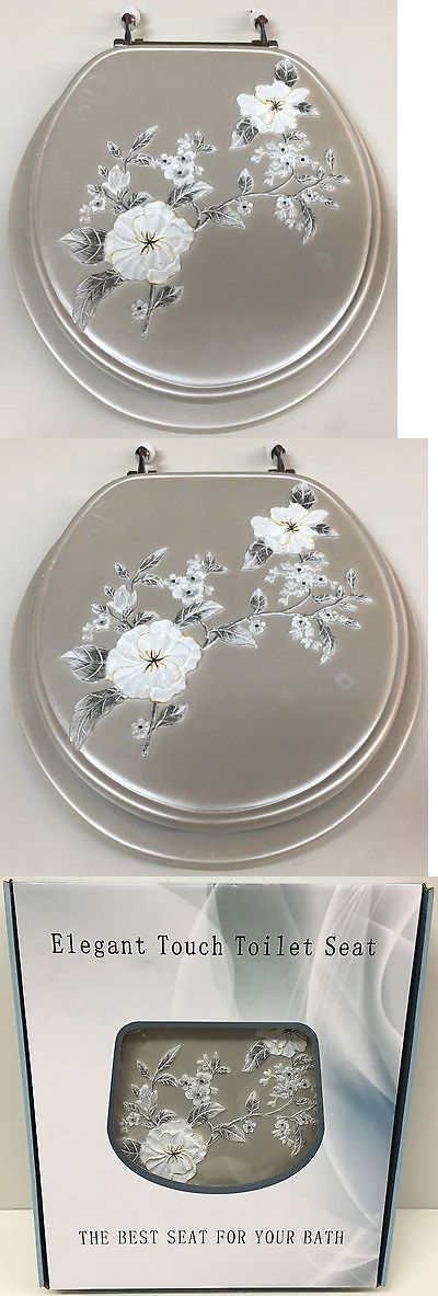 Toilet Seats 37637: Daniels Gray Melrose Resin Toilet Seat, Standard Round With Chrome Hinges -> BUY IT NOW ONLY: $79.99 on eBay!