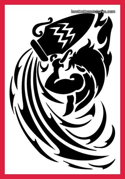 Quality Tribal Aquarius Tattoo Design